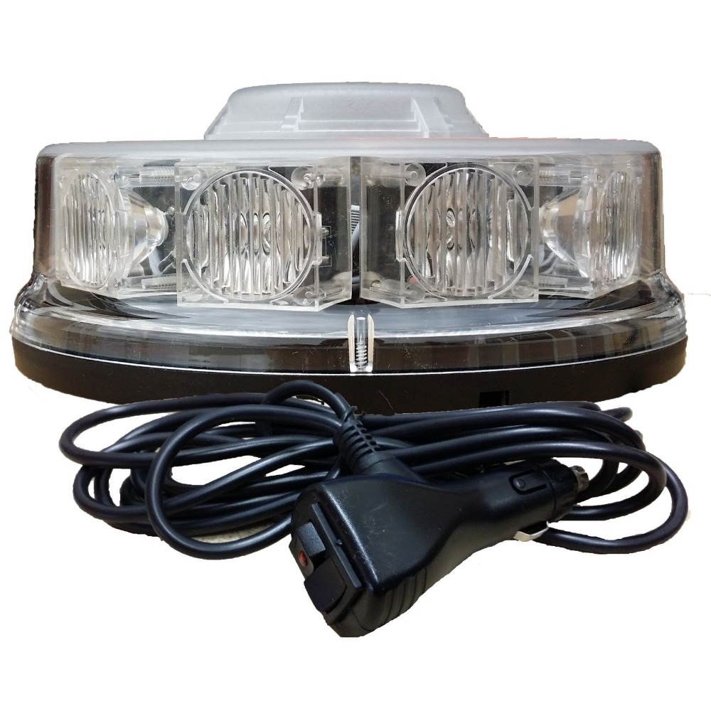 10 LED LED BEACON Magnetic / Bolt Recovery Flashing Warning Strobe Light Lightbar Amber
