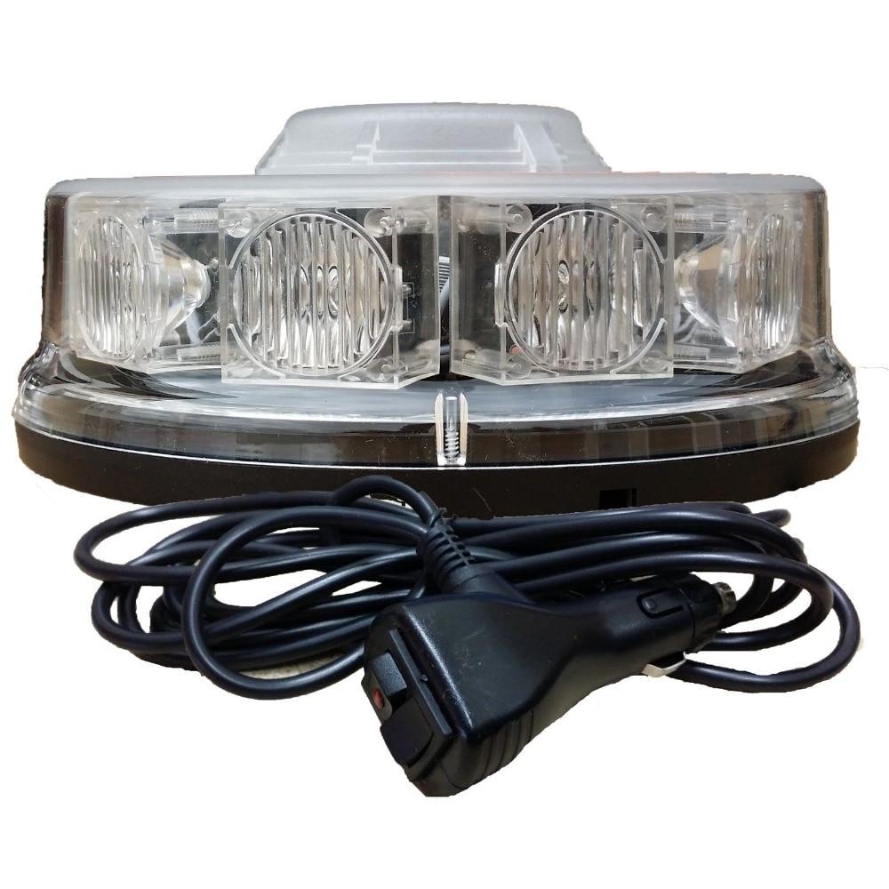 10 LED LED BEACON Magnetic / Bolt Recovery Flashing Warning Strobe Light Lightbar Amber