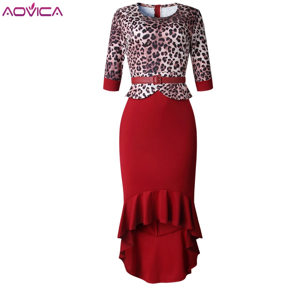 Aovica African Dresses For Women African Clothes Maxi Dress Africa Outfit Gown Elegant Lady Mermaid Robe Party Midi Vestidos
