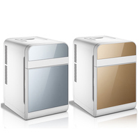 220V 20L Mini Electric Car Refrigerator 2 In 1 Multifunction Portable 12V Travel Car Fridge Cooler