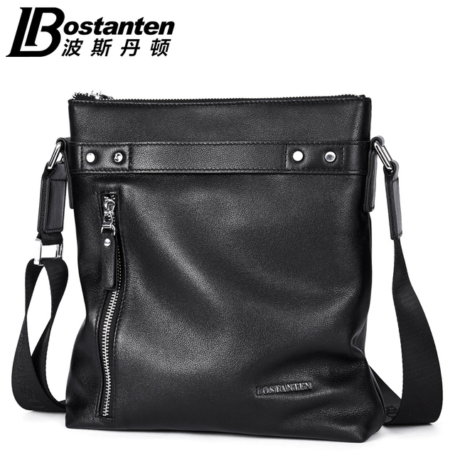 BOSTANTEN Cow Real Genuine Leather Fashion Men Bags Messenger Bags Small  Business Travel Crossbody Shoulder Bag Handbags aca24fc7f1ad5
