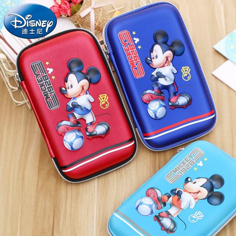 3d Disney Cartoon Mickey Mouse Potlood Pu Case Kinderen Basisschool Pen Briefpapier Doos Waterdichte Grote Capaciteit Eva Anti- Fall