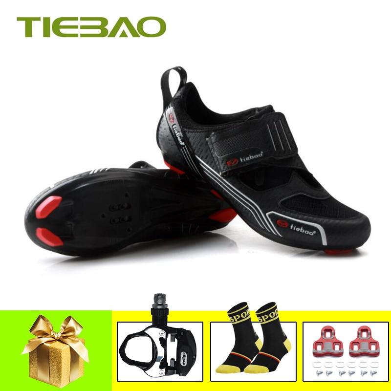 Tiebao sapatos de bicicleta de estrada Triathlon 2019 mulheres homens self-locking sapatilha ciclismo bicicletas bicicleta da bicicleta da equitação sapatos respirável sapatos