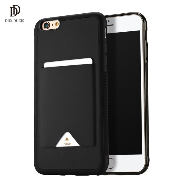 42f03c886bf DUX DUCIS PU Leather Card Case for iPhone 6 6s plus Credit Card Slot Holder  Wallet Back Cover for iPhone 6 6s plus Phone Case