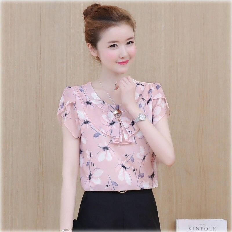 Mulheres primavera verão estilo chiffon blusas camisas