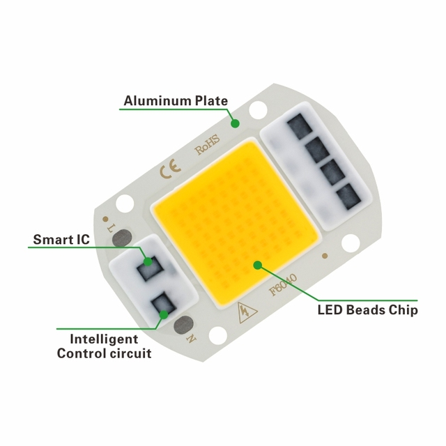 LED COB Chip 10W 20W 30W 50W 220V Smart IC No Need Driver 3W 5W 7W 9W LED Bulb Lamp for Flood Light Spotlight Diy Lighting 3