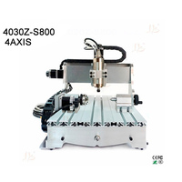 Cnc 3040 Router 800w Water Cooled Cnc Milling Machine 4 Axis Engraver For Wood Metal Aluminum