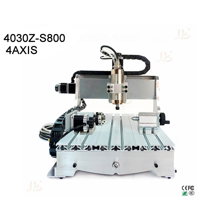 cnc 3040 router 800w water cooled cnc milling machine 4 axis engraver for wood, metal, aluminum