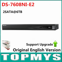 Free Shipping Original Overseas Version DS 7608NI E2 8CH NVR Economic NVR For HD IP Camera