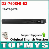 Free Shipping Original Overseas Version DS 7608NI E2 8CH NVR Economic NVR For HD IP Camera