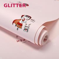 Pink Cartoon Wallpaper For Girls Room High Quality Children Room Background Wallpaper 3d Embossed Contact Paper Wall Paper Rolls