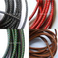 1 meter Diameter 6mm Red Black Round Bolo Braided Genuine Leather Cord Fit Charm Bracelet Necklace Jewelry DIY Findings