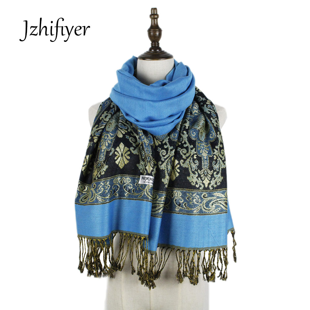 metical yarn high quality fashion 70 190cm women foulard paisley tassel long pashmina shawl scarves pashmina capes stoles in Women 39 s Scarves from Apparel Accessories