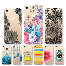 For iphone 7 Case 7Plus Silicone Cell Phone Bumper Cover Plus apple Transparent Soft TPU