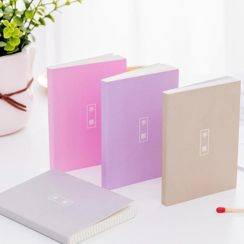 1pcs 80 Pages Fresh Mini Memo Notebook Portable Solid Vocabu