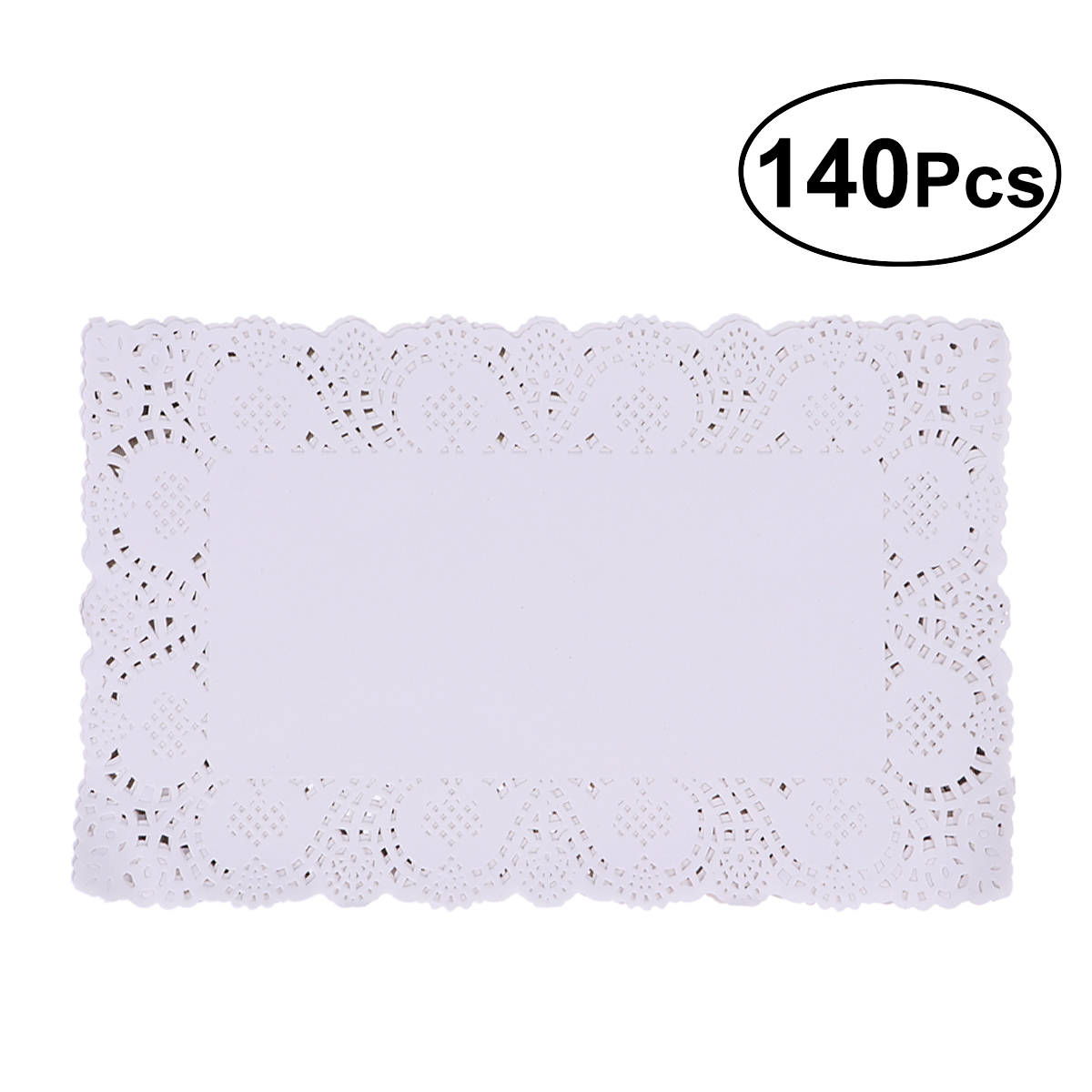 140pcs Pack Paper Doilies White Oil Absorbing Rectangle