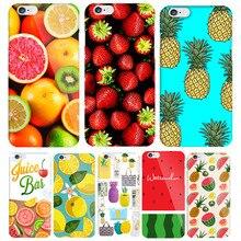 Funda dura divertida Fruta de verano piña y fresa para coque iphone 7 8 Plus 6 6s 5S SE fundas de teléfono sandía limón Accesorios