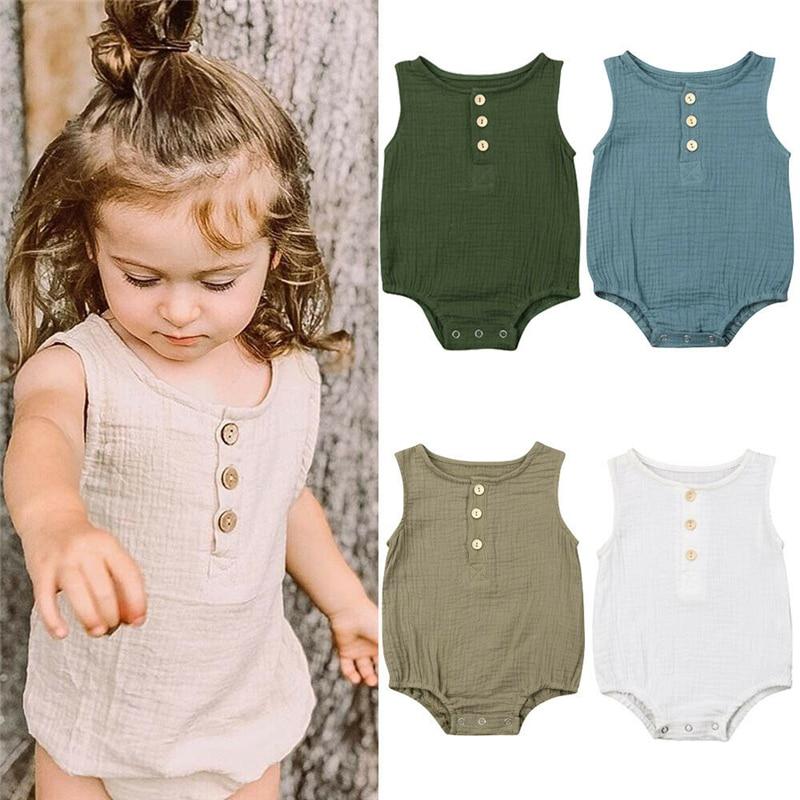 2019, летняя одежда для новорожденных, мальчиков и девочек, однотонный хлопковый комбинезон, комбинезон, наряд, оптовая продажа!