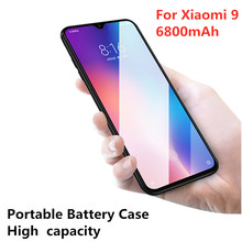 6800mAh Portable Ultra-Thin Battery Power Bank Charging Cover External Battery Charger Housing for Xiaomi 9 Power Box