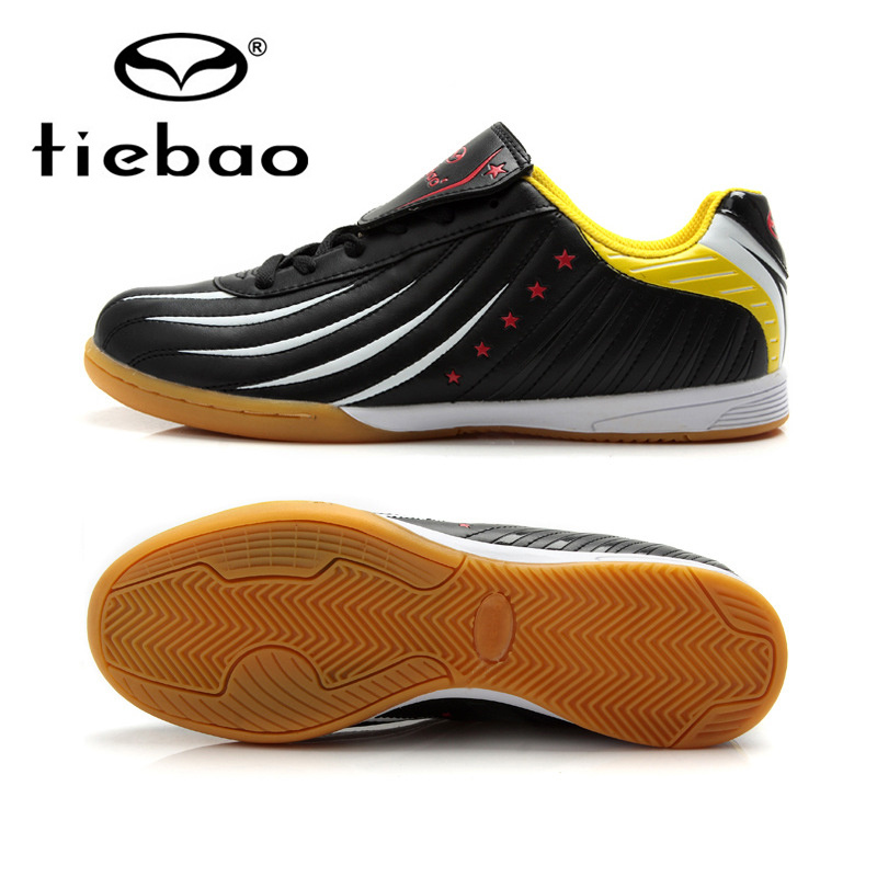 TIEBAO Professional Indoor Soccer Shoes IN & IC Sole Football Boots Sneakers Men Women Athletic Training Shoes chuteira futsal
