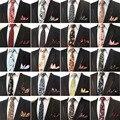 Мужчины Урожай Хлопка Пейсли Цветок Галстук Карманный Площадь Галстук Платок Набор BWTHZ0150