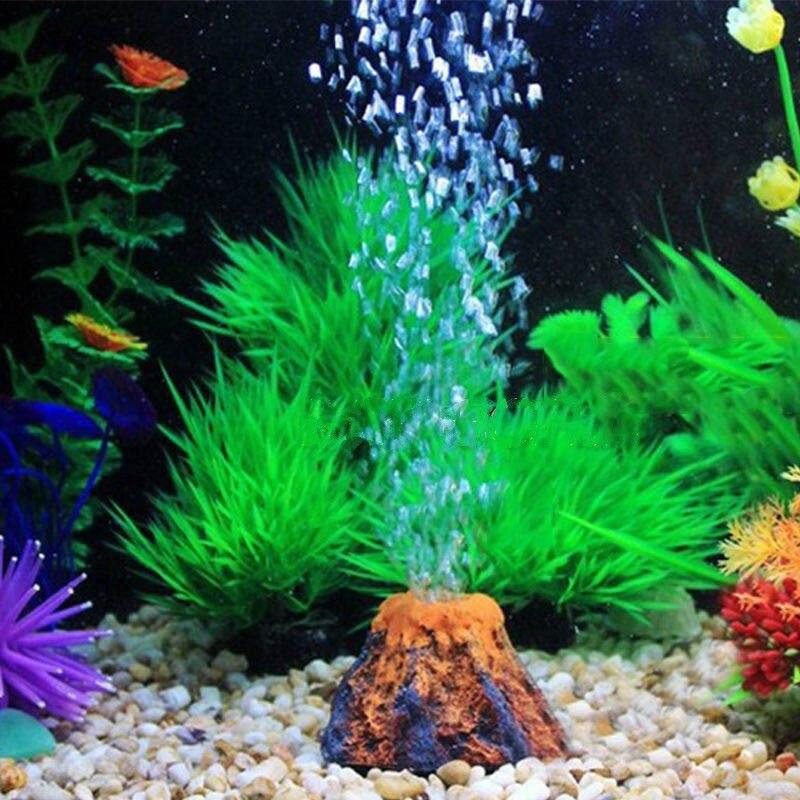 2018 Nieuwste Hot Onderwater Led Verlichting Bubble Effect Volcano Aquarium Ornament Fish Tank Decor Versieren Rotsen Goedkope Verkoop 50%