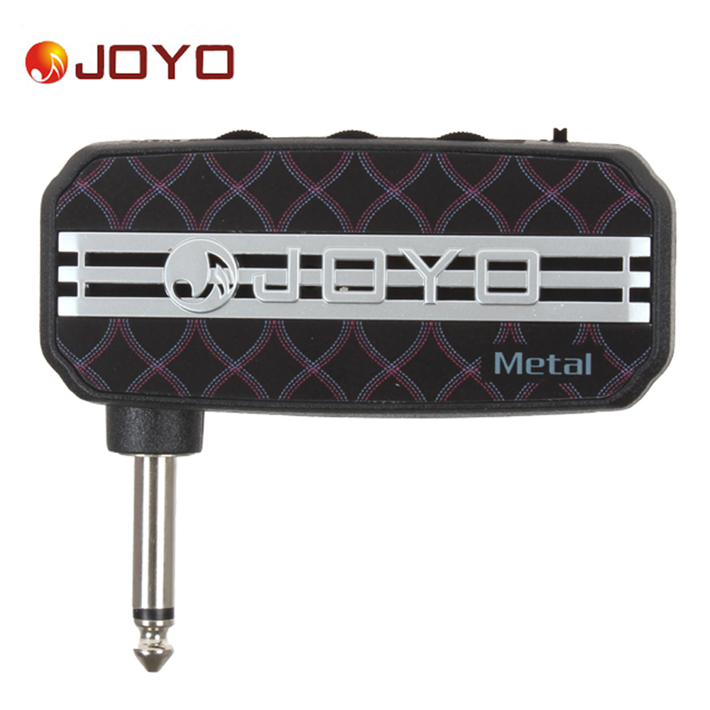 JOYO Ja-03 Metal Sound Mini Portable Guitar Amplifier Plug Headphone Amp Clean / Distortion Sound Effect with Earphone Output joyo ja 03 mini guitar amplifier with metal sound effect