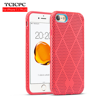For Iphone 7 Case Iphone 7 Plus Case Fashion Hollow Silicone Case Luxury Hit Color Back