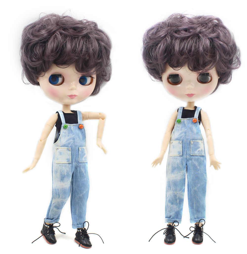 Ледяная фабрика blyth кукла мальчик тело фиолетовый короткий волос шарнирная кукла нео BL9219 1/6 30 см Подарочная игрушка