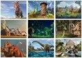 Экологически чистые древесины 500 шт. Для Взрослых Деревянные Головоломки Для Детей Образование Игрушка Мультфильм Хороший Динозавров Животных Миру Юрского Игрушка-Головоломка