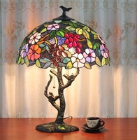 16 inch European Tiffany grape table lamp stained glass bedroom study room coffee room bar decoration lamp