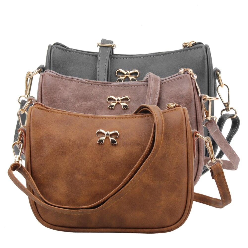 Nuevas Mujeres Bolsas de Mensajero de LA PU Leather Mini Flap Bolso Crossbody De