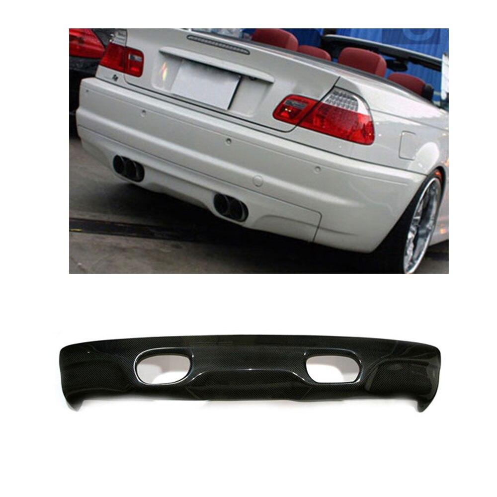 Углеродного волокна автомобилей Стайлинг заднего бампера Диффузор для губ для BMW E46 M3 Бампер Только 2002 2005
