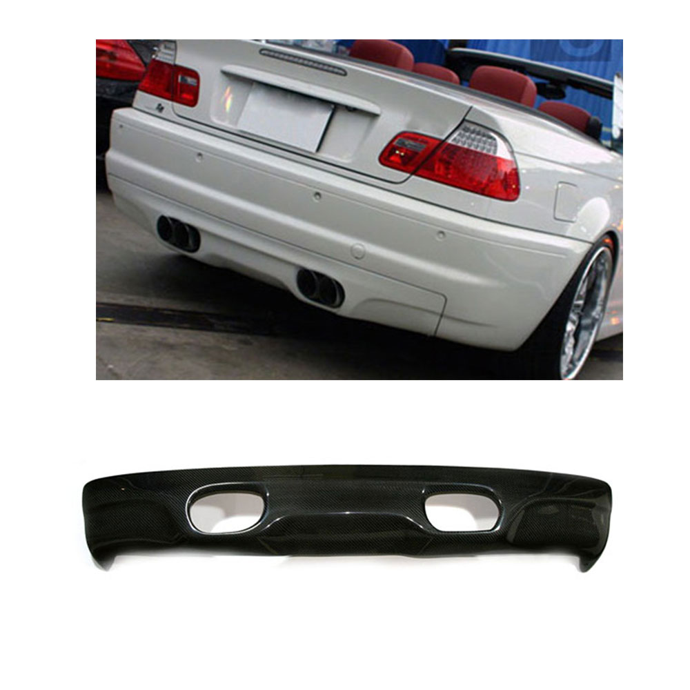 Carbon Fiber Car styling Rear Bumper Diffuser Lip For BMW E46 M3 Bumper Only 2002 2005