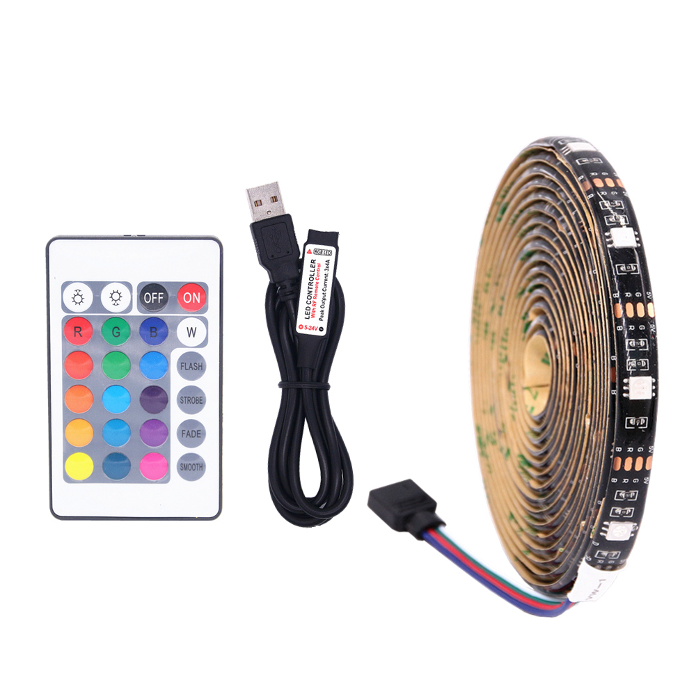 DC 5V USB LED Strip 5050 RGB Flexible Light  TV Background Lighting RGB LED Strip Adhesive Tape IP20 / IP65 Waterproof