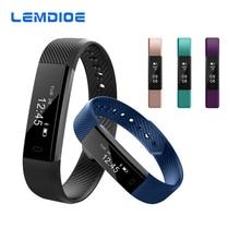 Lemdioe id115 bluetooth 4.0 pk banda pulsera smartband pulsera para android ios teléfono inteligente xiaomi band 2