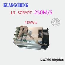 KUANGCHENG ANTMINER L3 muet faible puissance LTC 250 M scrypt mineur Asic mineur LTC Machine minière 425 W bureau école mineur