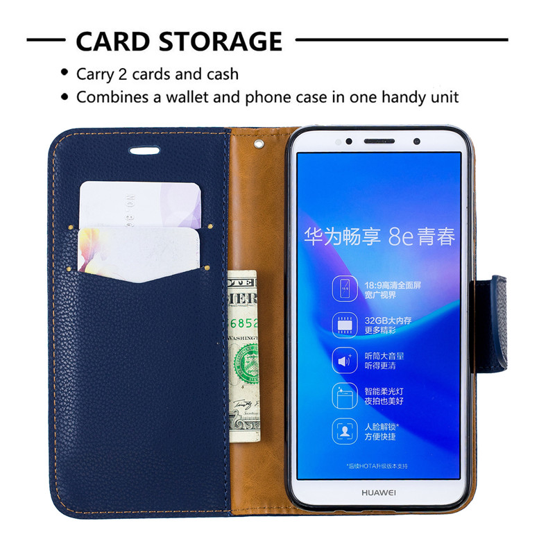 Image 5 - Y5(2019) Case Leather Flip Case on for Huawei Y5 2019 Coque Wallet Magnetic Cover for Huawei Y5 2019 Y 5 Prime 2018 Phone Cases-in Flip Cases from Cellphones & Telecommunications