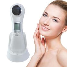 Facial Skin Lifting Rejuvenation 6 in 1 LED RF Photon Therapy Vibration Device Machine EMS Ion Microcurrent Mesotherapy Massager