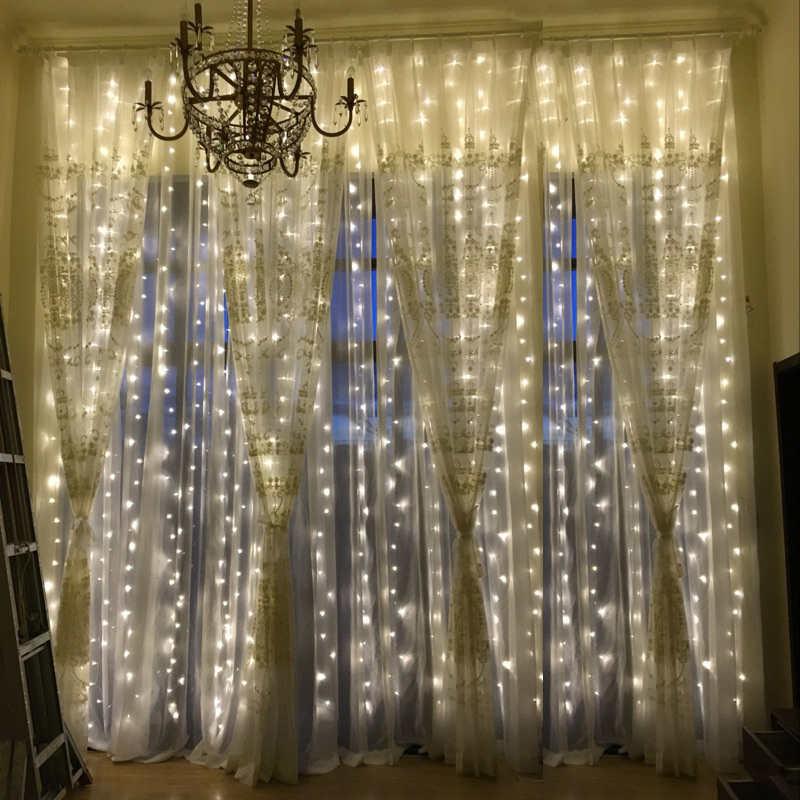 3M x 3M 300LED Outdoor Home Christmas Decorative xmas String Fairy Curtain Strip Garlands Party <font><b>Lights</b></font> For Wedding Decorations