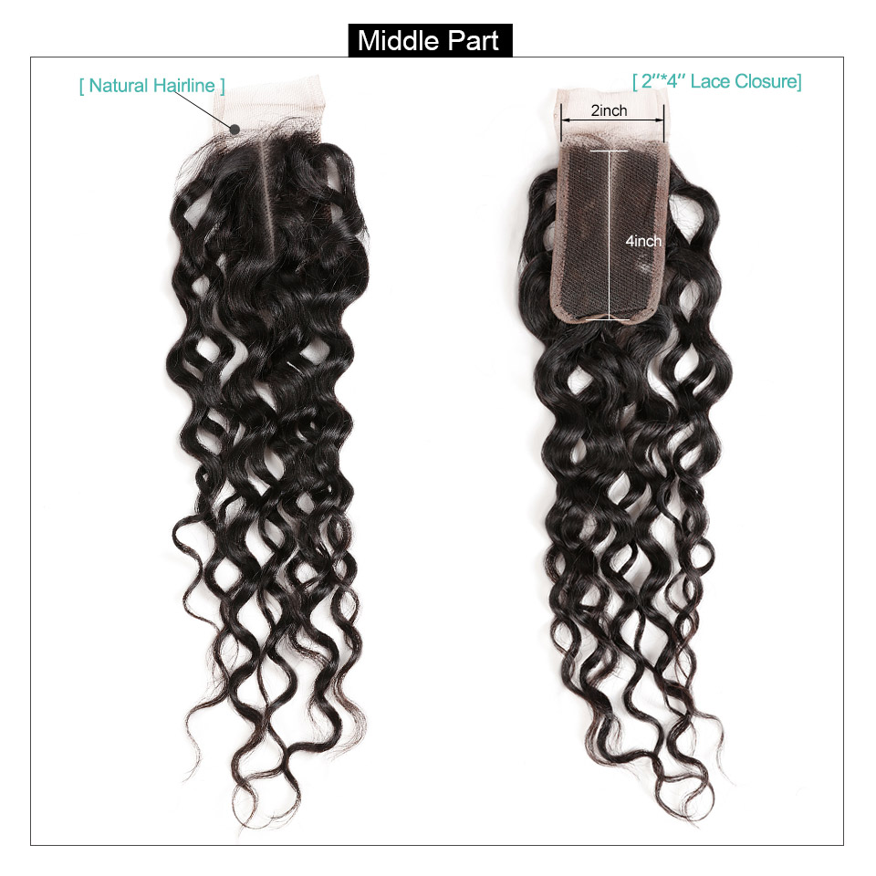Allove Water Wave Hair Bundles With Closure (7)
