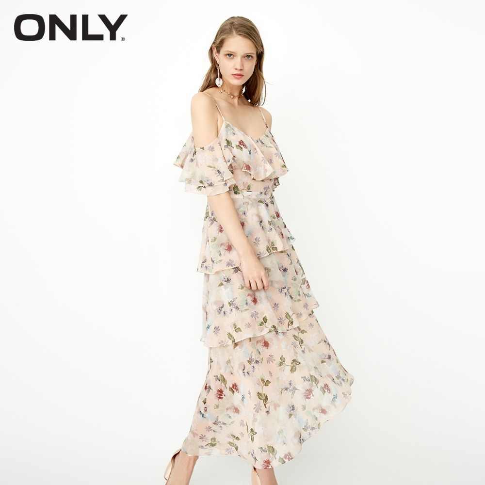 Только осенние ремни гофрированные бретельки сексуальные шифоновые Элегантные платья | 118107600