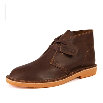 Nice 2222 New Autumn British Classic Style Men Desert Boots The First Layer Cow Leather High Top Lace Up Man Ankle Boots