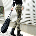 Silky elastic pencil Camouflage pants military Women Camouflage slim trousers skinny pants four seasons thin paragraph