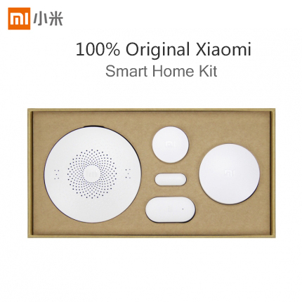 Original Xiaomi Smart Home Kit , Suit Gateway+Wireless Switch+Windows Door Sensor+Body Sensor For Xiaomi Home Security Sensors