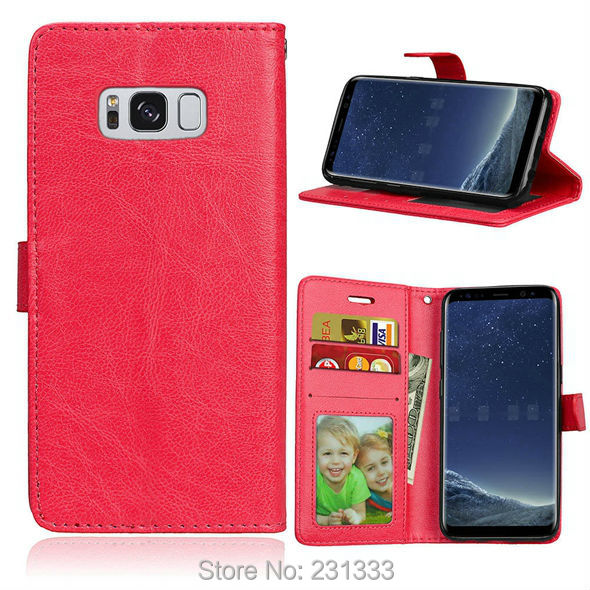 Crazy Horse Wallet Leather Pouch Case For Samsung Galaxy S8 PLUS J9 J3 J5 J7 A3 A5 A7 2017 C9 PRO Stand Card Mad Skin Cover 1pcs