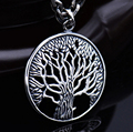 Sterling 925 silver tree of life carved hollow out pendant retro thai silver fashion jewelry brand new original (HY)
