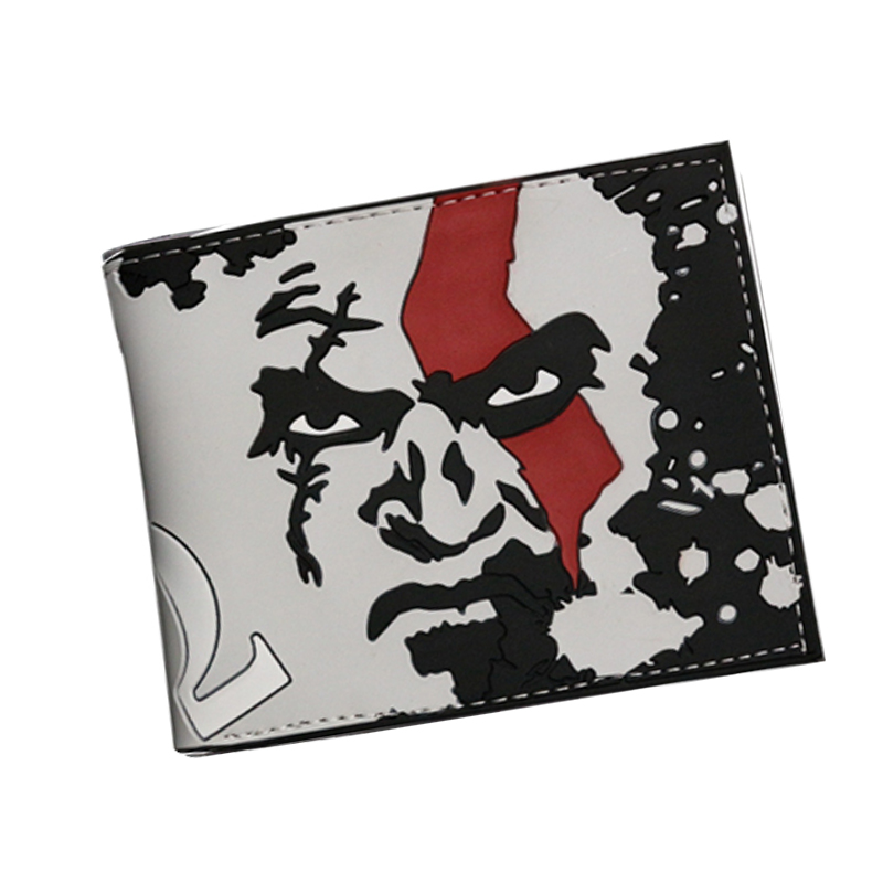 Short 3D Game  Kratos GOD OF WAR Mens Wallets Bifold Short Leather Money cartera billeteras 3 card holder carteira masculina cou art of war