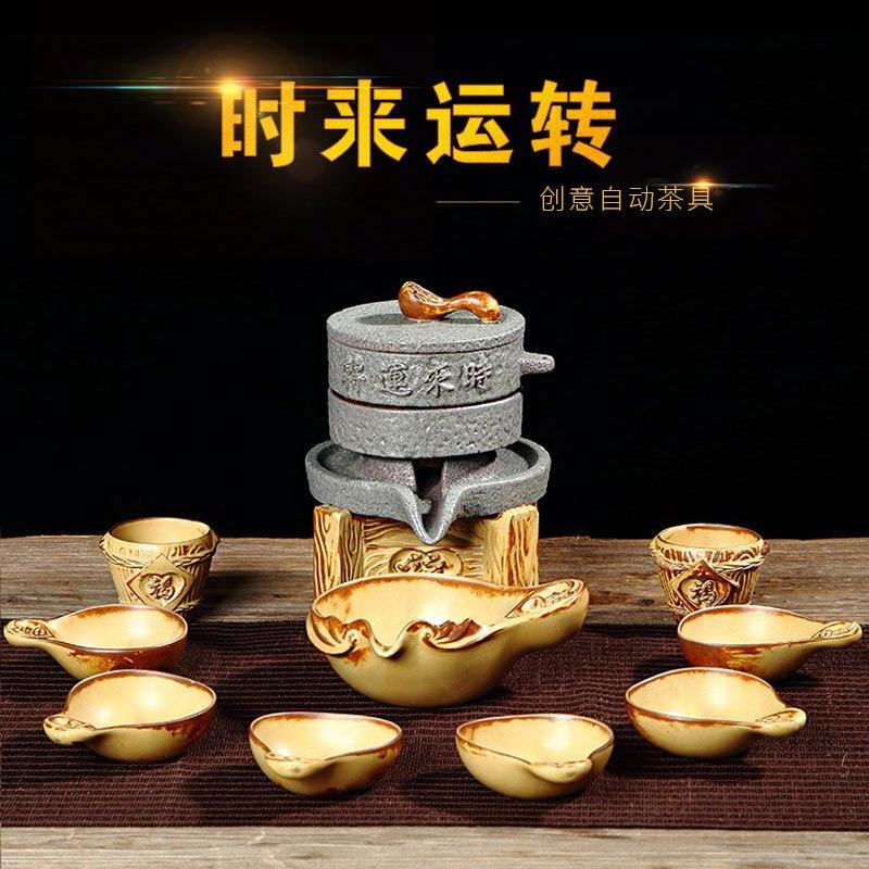 Créatif rugueux poterie thé cérémonie automatique Kung Fu thé ensemble haute qualité thé rituel cadeau usine vente directe livraison gratuite