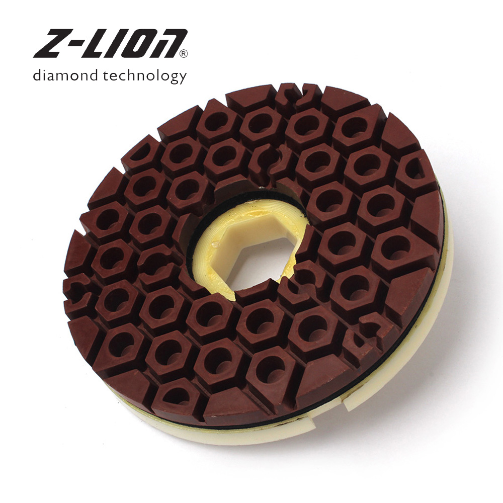 Z-LION 6 pouce Diamant Bord De Polissage Pad Escargot Verrouillage Disque Abrasif 150mm Bord Meule Pour Marbre Granit De Polissage roue